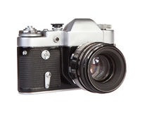 Retro film camera Stock Photos