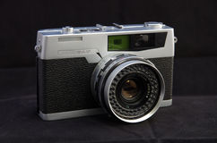 Retro Film Camera. Old rangefinder 35mm film camera from the 1960s Stock Images