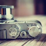 Retro film camera. Royalty Free Stock Photos