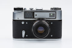 Retro film camera on a white background. Fed royalty free stock photography