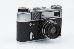 Retro film camera on a white background. Fed royalty free stock images