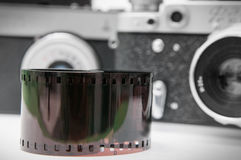 Retro film and cameras Royalty Free Stock Images