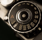 Retro film dial Stock Photo
