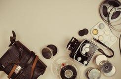 Retro- Film-Kamera Lizenzfreies Stockbild