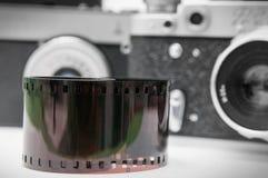 Retro film och kameror Royaltyfria Bilder