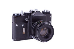 Retro film photo camera Stock Photo