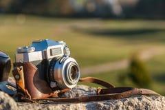Retro film photocamera Stock Images