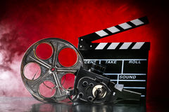 Retro film production accessories still life Royalty Free Stock Photography