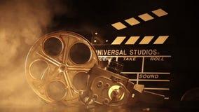 Retro film production accessories still life stock video