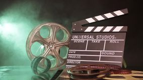 Retro film production accessories still life stock footage
