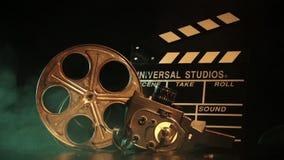 Retro film production accessories still life stock video footage
