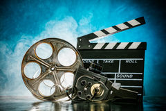 Retro film production accessories still life Royalty Free Stock Photo