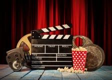 Retro film production accessories still life. Royalty Free Stock Photos