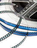 Retro film reel. Vintage Super 8 film reel isolated on white Royalty Free Stock Photos