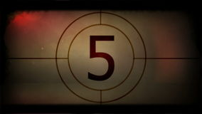 Retro film strip countdown stock footage
