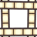 Retro Film Strip Photo Frame. On white background. Eps file available Royalty Free Stock Images