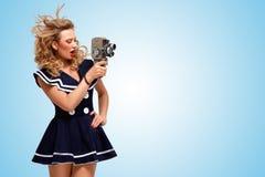 Retro- Filmart Lizenzfreies Stockfoto