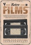 Retro- Filmdigital-analog-wandlung VHS-Videos vektor abbildung