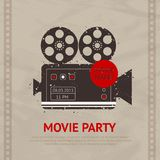 Retro- Filmplakat Lizenzfreie Stockfotografie