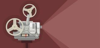 Retro- Filmprojektor für das Filmdarstellen Lizenzfreie Stockfotos