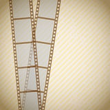 Retro filmstrip background. Old  filmstrip on retro background Royalty Free Stock Images