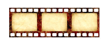 Retro filmstrip with grunge paper texture Stock Image