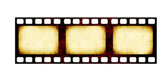 Retro filmstrip met grungedocument textuur Stock Foto