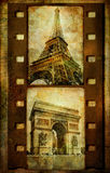 Retro filmstrip - Parigi Fotografia Stock