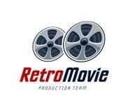 Retro filmu logo Zdjęcie Stock