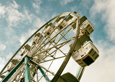 Retro- Filter Ferris Wheel Lizenzfreies Stockbild