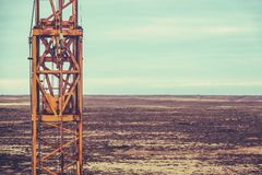 Texas Oil Field Machinery Royalty Free Stock Photos