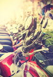 Retro filtered picture of scooter, shallow depth of field Stock Images