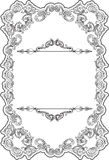 Retro fine ornate border Stock Photography