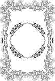 Retro fine ornate greeting border Stock Photography