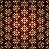 Retro fiore dell'oro e modello senza cuciture del cerchio su Backgrou pastello Fotografia Stock