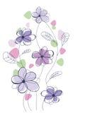 Retro fiori Immagine Stock