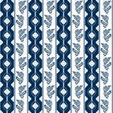 Retro fiori bianchi su fondo blu Immagini Stock