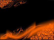 Retro fire background. Fire on black background, retro art Royalty Free Stock Photography