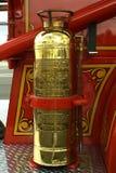 Retro Fire Extinguisher. Antique fire equipment Stock Photo