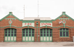 Retro fire station Royalty Free Stock Images