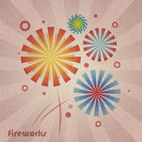 Retro Fireworks Royalty Free Stock Images