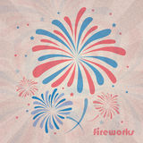 Retro Fireworks Stock Photography