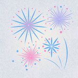 Retro Fireworks Royalty Free Stock Photo