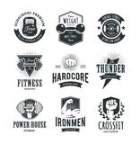 Retro Fitness Emblems Stock Photo