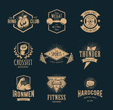 Retro Fitness Emblems Royalty Free Stock Photo
