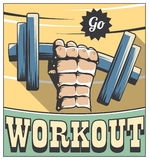 Retro fitness motivation poster Royalty Free Stock Photography