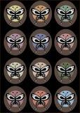 retro fjärilar Arkivbild