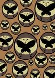 retro fjärilar Royaltyfri Foto