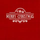 Retro- flache Art der Weinlese modische Karte froher Weihnachten Lizenzfreie Stockfotos