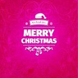 Retro- flache Art des Weinlesegutshofs modische Karte froher Weihnachten Lizenzfreies Stockfoto